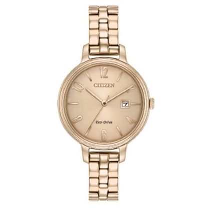 Picture of Citizen Eco-Drive Chandler Rose-Tone Stainless Steel Watch