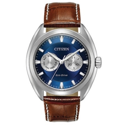 b3e9496dc5f Citizen Eco-Drive Paradex Brown Leather Watch with.