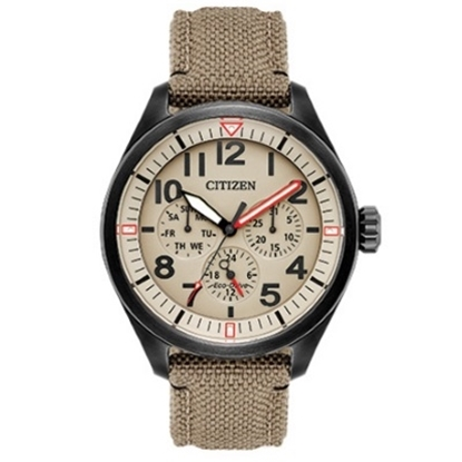 Picture of Citizen Eco-Drive Chandler Watch with Tan Cordura Strap