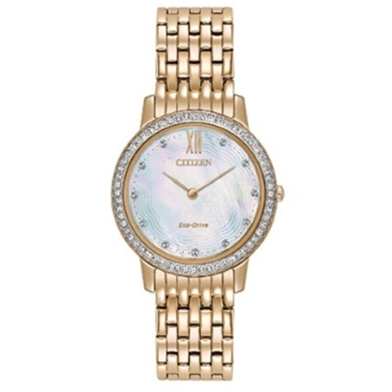 Picture of Citizen Eco-Drive Silhouette Crystal Gold-Tone Watch