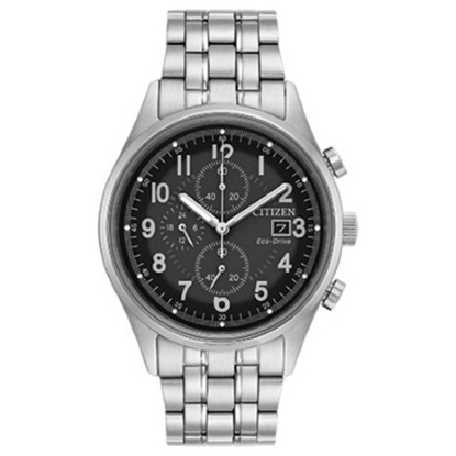 Picture of Citizen Eco-Drive Chandler Stainless Steel Watch w/ Grey Dial