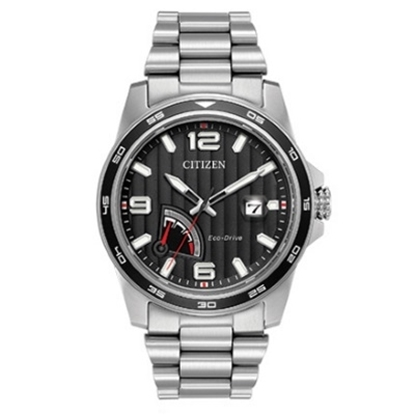 Picture of Citizen Eco-Drive PRT Stainless Steel Watch with Black Dial