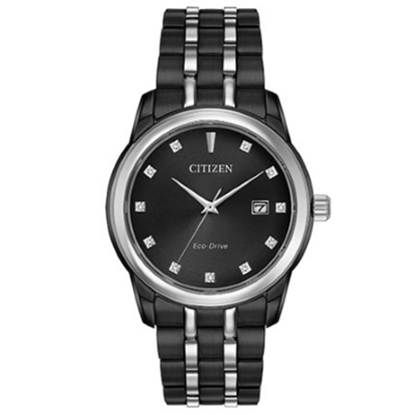 Picture of Citizen Eco-Drive Corso 39mm Black-Tone Watch w/ Diamond Dial