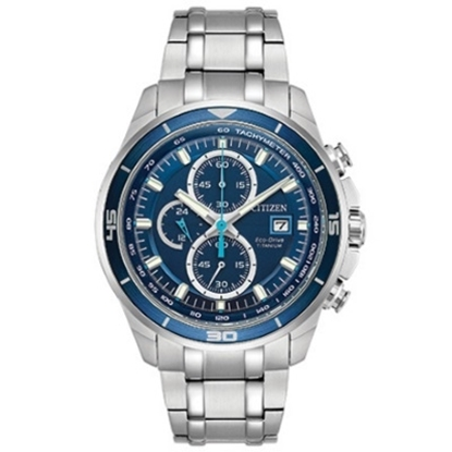 Picture of Citizen Eco-Drive Super Titanium Watch with Cerulean Dial