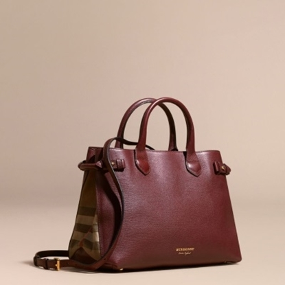 Picture of Burberry Medium House Check Banner - Mahogany