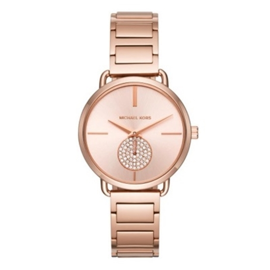 Picture of Michael Kors Portia Rose Gold-Tone Stainless Steel Watch