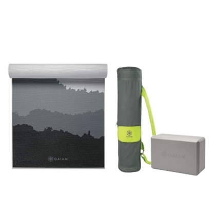 Picture of Gaiam® Granite Mountains Premium Yoga Mat with Bag & Block