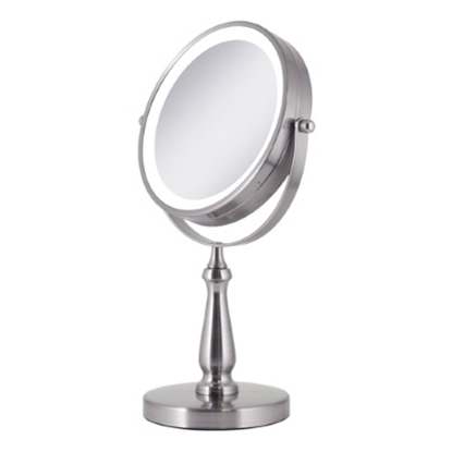 Picture of Zadro™ LED Lighted 1X/8X Vanity Mirror - Satin Nickel