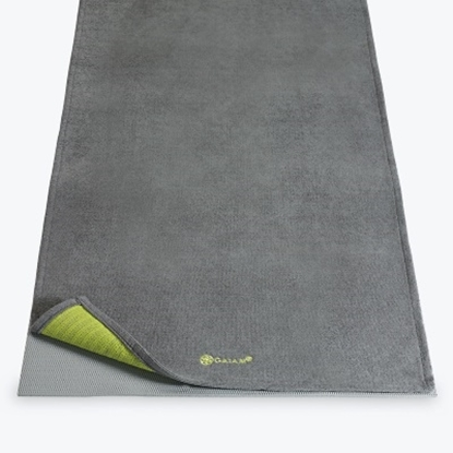 Picture of Gaiam Citron Storm Grippy Yoga Towel