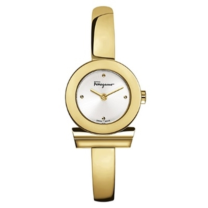 Picture of Salvatore Ferragamo Ladies Gancino Watch with Gold-Tone Bangle