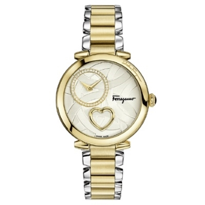 Picture of Salvatore Ferragamo Ladies Cuore TwoTone Stainless Steel Watch