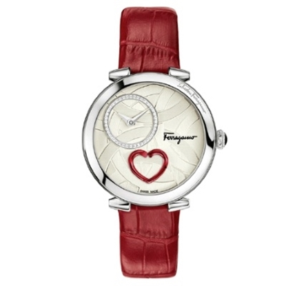 Picture of Salvatore Ferragamo Ladies' Cuore Watch with Red Leather Strap