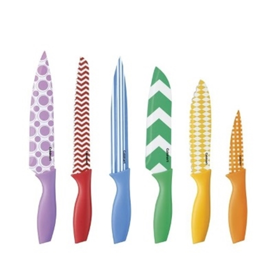 Picture of Cuisinart® 12PC Printed Color Knife Set with Blade Guards