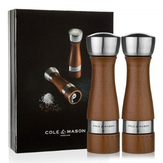 Picture of Cole & Mason Oldbury Walnut Salt & Pepper Mill Gift Set