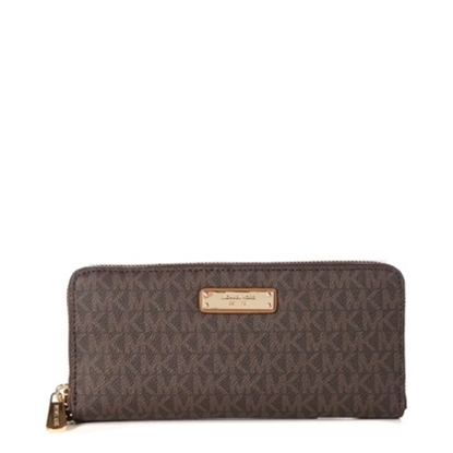 Picture of Michael Kors Jet Set Signature Travel Continental - Brown