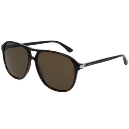 Picture of Gucci Sensual Romanticism Nylon Pilot Sunglasses- Havana/Brown