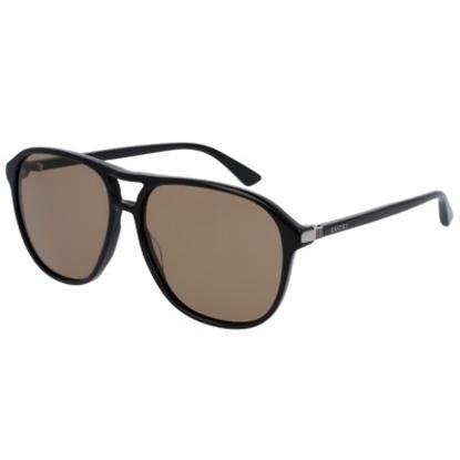 Picture of Gucci Sensual Romanticism Nylon Pilot Sunglasses - Black/Brown