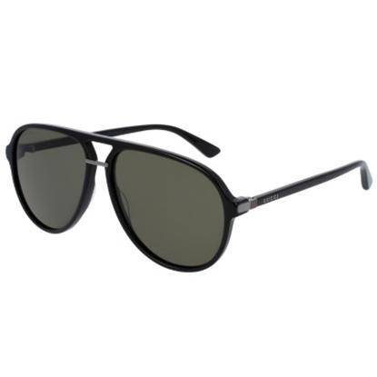 Picture of Gucci Sensual Romanticism Nylon Pilot Sunglasses - Black/Green