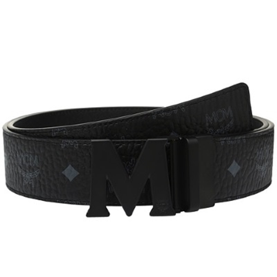 Picture of MCM Claus PVD Matte Leather Belt - Black