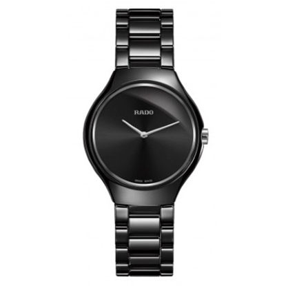 Picture of Rado 30mm True Thinline Quartz Black Ceramic Watch