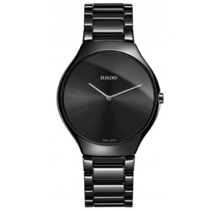 Picture of Rado 39mm True Thinline Quartz Black Ceramic Watch