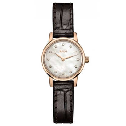 Picture of Rado Coupole Classic Brown Leather Strap Watch with MOP Dial