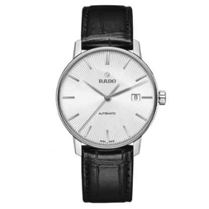 Picture of Rado Coupole Classic Auto Black Leather Strap Watch