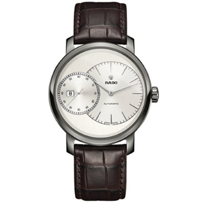 Picture of Rado DiaMaster Auto Chrono Watch with Brown Leather Strap