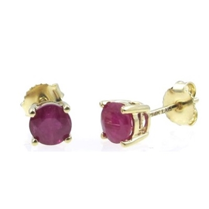 Picture of Lali 14K Yellow Gold Ruby Earring