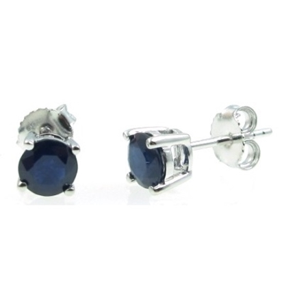 Picture of Lali 14K White Gold Sapphire Earring