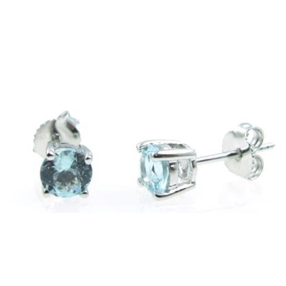 Picture of Lali 14K White Gold Aquamarine Earring