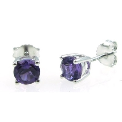 Picture of Lali 14K White Gold Amethyst Earring