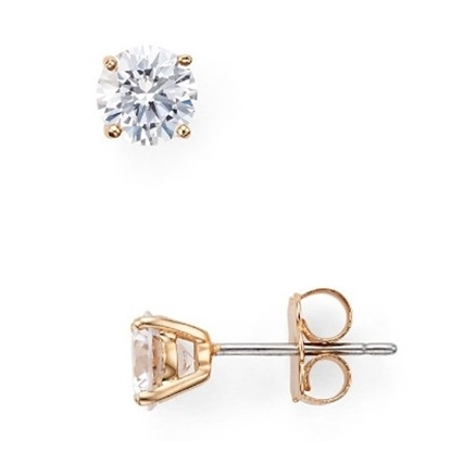 Picture of Nadri 2ctw. Rose Gold-Tone Stud Earrings