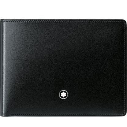 Picture of Montblanc Meisterstück Six-Card Leather Wallet - Black