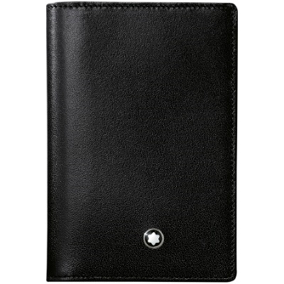 Picture of Montblanc Meisterstück Leather Business Card Holder - Black