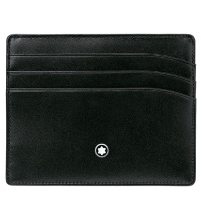 Picture of Montblanc Meisterstück Six-Card Leather Pocket Holder - Black