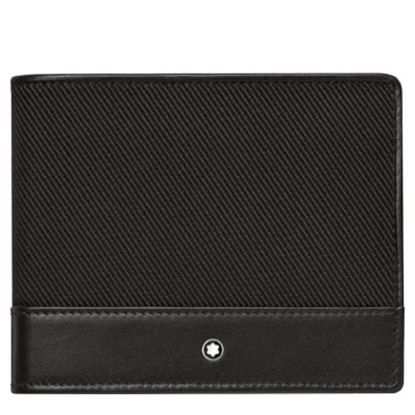 Picture of Montblanc NightFlight Six-Card Fabric Wallet - Black