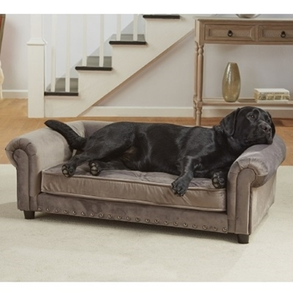 Picture of Enchanted Home Pet Manchester Velvet Sofa - Grey