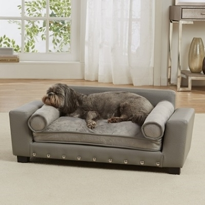 Picture of Enchanted Home Pet Scout Lounge Pet Sofa - Grey