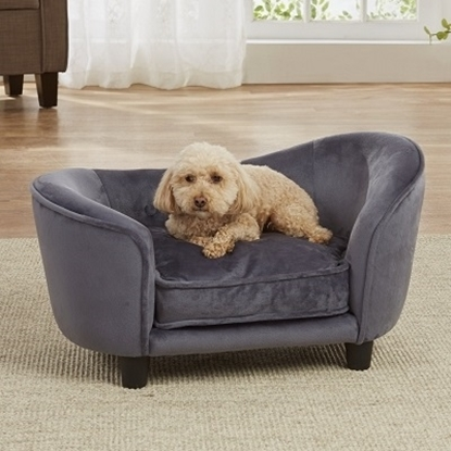 Picture of Enchanted Home Pet Ultra Plush Snuggle Bed - Dark Grey
