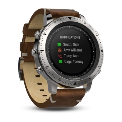 Picture of Garmin fenix® Chronos GPS Watch with Brown Leather Band
