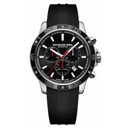 Picture of Raymond Weil Tango 300 Chrono Watch with Black Rubber Strap