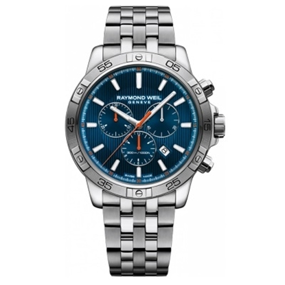 Picture of Raymond Weil Tango 300 Chrono Steel Watch with Blue Dial