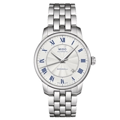 Picture of Mido Baroncelli II Auto Stainless Steel Watch with White Dial