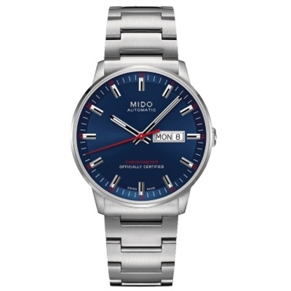 Picture of Mido Commander II Stainless Steel Watch with Navy Dial