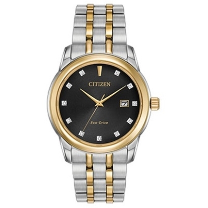 Picture of Citizen Diamond Collection Two-Tone Watch with Black Dial