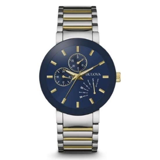 Picture of Bulova Men's Two-Tone Stainless Steel Watch with Blue Dial