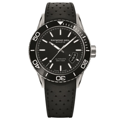 Picture of Raymond Weil Freelancer Watch with Black Leather Strap