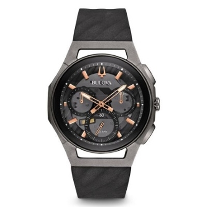 Picture of Bulova Men's Curv Chrono with Black & Rose Gold Dial