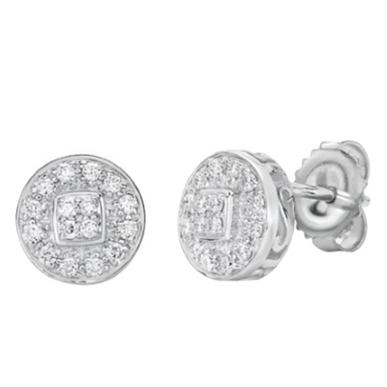 Picture of ALOR Classique Diamond Stud Earrings Set in 18kt White Gold